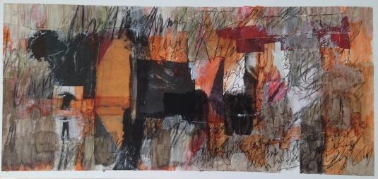 """Orpheus and Eurydice in the underworld"" - 2009 - 23x48cm"